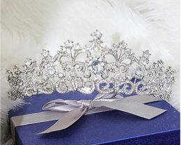 Wholesale Rhinestone Queens - Snow Queen Crown Tiaras Wedding And Party Hair Jewelry 2015 May Style Free Shipping Best Selling