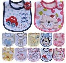Wholesale Pink Dot Apron - Infant saliva towels 3-layer Baby Waterproof bibs Baby wear accessories kids cotton apron handkerchief children animal bib 2015 pinafore0136