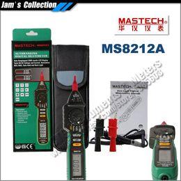 Wholesale Testers Voltage Ac Dc - M045 Mastech Pen type Digital Multimeter MS8212A DC AC Voltage Current Tester Diode Continuity Logic Non-contact voltage