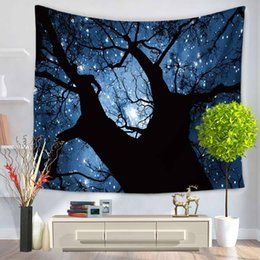 Wholesale Decorative Wall Hanging Art - 150 x130cm,200x150cm Watercolor Wall Decorative Starry sky Hanging Tapestries Bedspread Ethnic Throw Art Floral Towel Beach Meditatio