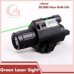Wholesale Green Dot Laser Pistol - New Rifle Tactical LED Flashlight Green Dot Laser Sight Combo 200LM 650nm For Pistol Guns Glock HT8-0001G
