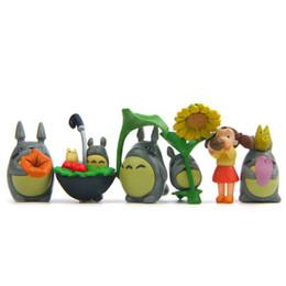 Wholesale Zakka Resin - 12Pcs Set Kawaii Zakka My Neighbor Totoro Toys Resin Miniatures 12 Chinchilla Doll Home Collection Action Figure Model Fairy Garden Decor