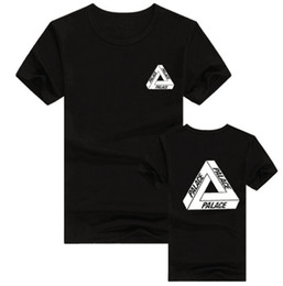 Wholesale Pure Blends - Europe and the United States tide brand Palace men's short sleeved T-shirt trend of pure cotton round neck skateboard lovers Tshirts