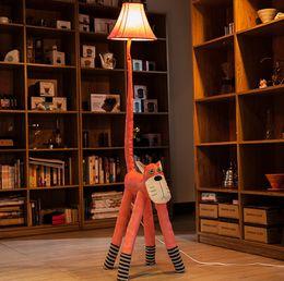 Wholesale Floor Reading Lamps - Creative cortex cartoon floor lamps 2pcs a bag , bedside lamp bedroom, rustic living room lamps, reading lamps children's room Animals