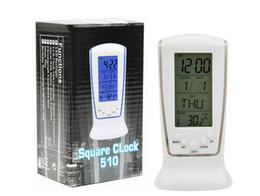 led temporizadores de cuenta regresiva Rebajas Mesa de escritorio Relojes Alarma digital LED Calendario Termómetro luces resplandecientes luces led regalos Luminoso silencioso tumbona cuenta regresiva temporizador 65