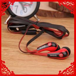 Wholesale Mini Souls - 50PCS Hot Selling Mini Soul SL700 Soul By Ludacris Ear Earphone Headset Headphone For Apple Ipod Iphone