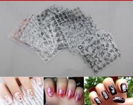 Wholesale Design Nail Tips Color - 2015 New 50 Sheet set 3D Design Tip Nail Art Nail Sticker Nail Decal Manicure Mix Random Color Flower