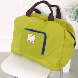 Wholesale Shoulders Handbags Blue Colour - Hot Sale 4 Colours Shopping Reusable Travel Storage Shoulder Bags Waterproof Strong Folding Handbag Grocery Tote