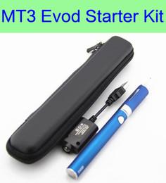 Wholesale Mt3 Starter - EVOD MT3 Kit Long Zipper kit e cigarette starter kits single kits with EVOD battery MT3 vaporizer