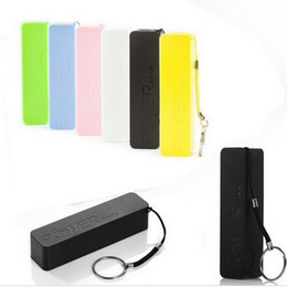 Wholesale External Battery 4s - External Battery 2600mAh Emergency USB Perfume Power Bank Charger for for iphone5 4S 5 5S 6 Samsung galaxy battery charger