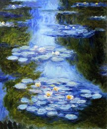 Wholesale Canvas Oil Painting Green Lilies - Claude Monet decoration oil painting, Water Lilies (blue-green) - famous artist reproduction