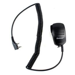 auriculares comtac Rebajas Nuevo Mini micrófono de mano Micrófono PTT para Kenwood para WOUXUN para PUTAR para HYT para BAOFENG Radios J6205A Alishow