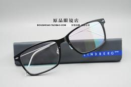 Wholesale Lighting Eyeglasses - Free shipping NEW!!!Lindberg 6505 glasses frame of mirror men women spectacle frames plank frames light spectacle frame eyeglasses frame
