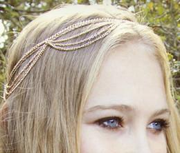Wholesale Gothic Headdress - New Fashion Gothic Women Ladies Crown Head Chain Headpiece Headdress Headwrap Hair Chain Jewelry Retail sale C0038