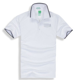 Wholesale Mens Casual Polo Shirts - Hot Sale 2018 New Polo Shirt Men High Quality Embroidery LOGO Big Size S-3XL Short Sleeve Summer BOSS Casual Polo Shirts Mens