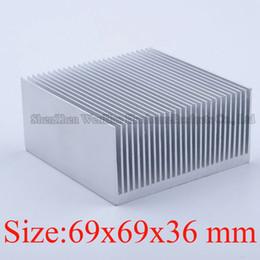 Wholesale Heat Sink Radiator - Wholesale- Heatsink 69x69x36 mm Aluminum heatsink heat sink high quality radiator for cooling