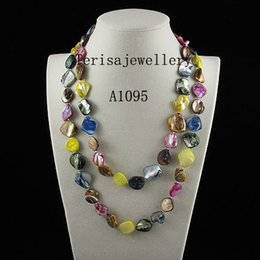 Wholesale Hot New Fashion Jewellery - Wholesale-wholesale A1095#Hot Sale mixes color shell necklace 45inch fashion jewellery necklace free shipping new women's jewellery