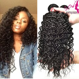 Wholesale Soft Wave Brazilian Hair Weave - Top Grade Peruvian Deep Wave Hair 3pcs Malaysian Indian Brazilian Remy Virgin Hair Wet And Wavy Human hair Products Soft Queen Hair