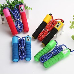Wholesale Adjustable Skip Rope Counter - Wholesale Adjustable Skipping Jump Jumping High Speed Rope With Counter Number Sports Fitness Exercise Workout Gym Calorie