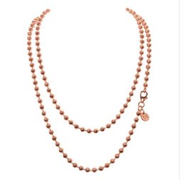 Wholesale Faceted Necklace - 2017 High Quality Faceted Ball Chain for Locket Coin Pendant Necklaces 10pcs lot Silver Gold Rose Gold 45cm-80cm