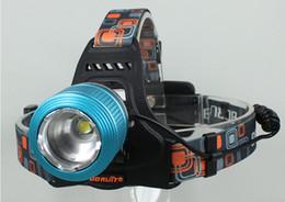 Faros delanteros recargables online-Boruit 18650 linterna Recargable del CREE XM-L T6 LED Faro 2000LM 3-Modo al aire libre Senderismo Camping la luz de la Pesca + Cargador de CA Envío Gratis