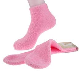 Argentina Wholesale-5pair = 1lot Hot 2015 Soft Coral Fleece Socks Mujer Classic Striped Calcetines Femeninos Calcetines de Las Muchachas de Colores Calcetín Térmico de Invierno Suministro