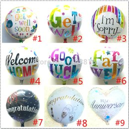 Wholesale Mylar Balloons Air - hot air balls printed balloons smeil balon helium get well baloons foil getwell globos metallic baloes mylar party decorations