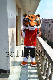 Wholesale Cartoon Tiger Dress - New Kung fu tiger Cartoon high-quality Mascot Costume Adult Size party Adult fancy dress carnival parade free shipping