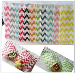 Wholesale Glassine Paper Wrap - 100 Chevron Glassine Paper Treat Bag   Sandwich Food Wrap