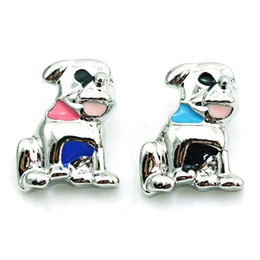 Wholesale Dog Buttons - Free Shipping 18mm Snap Buttons 3 Color Enamel Dog Metal Clasps Fashion DIY Ginger Snaps Chunk Accessories Jewelry