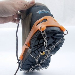 Wholesale Mens Climbing Shoes - Antiskid Shoes Cover Fashion Mens Outdoor Climb and Non-slip Shoes Cover Hot Mens Elastic and Manganese Steel Chain Shoes Cover