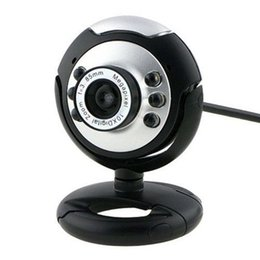 Wholesale Night Vision Pc Camera - Wholesale-HD 12.0MP 6 LED USB Webcam Camera with Mic Night Vision for Desktop PC Laptop