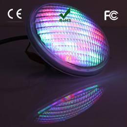 Wholesale Par56 Rgb - High power 54W LED Stainless Steel 304 LED Pool Light LED Underwater Light IP 68 PAR56 12V RGB floodlight