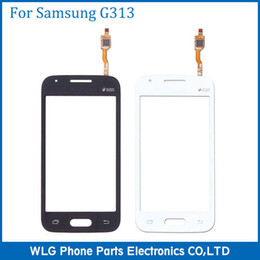 Cellulare di tocco bianco di samsung online-Touch Screen per Samsung Galaxy Ace 4 G313 Touch Panel Digitizer di ricambio per Samsung Galaxy Ace 4 nero / bianco