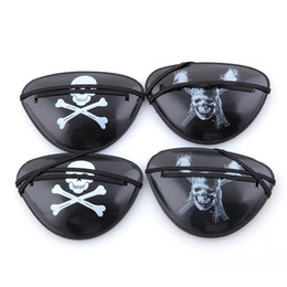 Wholesale Caribbean Masks - Wholesale-1 piece Halloween costumes masquerade pirates of the Caribbean accessories The pirate eye patch eye mask