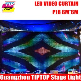 Wholesale Curtain Lights For Wedding Backdrops - Wholesale-P18 6M*6M Fire Proof LED Video Curtain With Off Line Controller For DJ Wedding Backdrops 90V-240V Tricolor Light Curtain