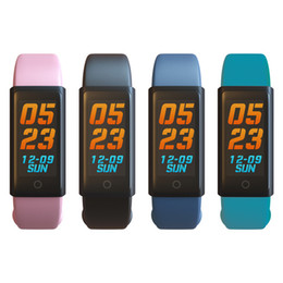 2019 alarm armbänder X6S Smart Armband Band Dynamische Pulsmesser Bunte LED-Bildschirm Smartwatch Gesundheit Sport Activity Tracker Anrufalarme Armband OTH672 günstig alarm armbänder