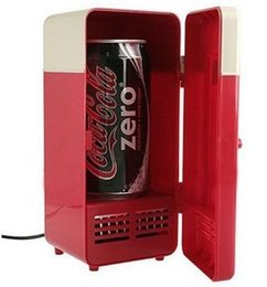 Wholesale Mini Beer Coolers - Cheap MINI Portable USB PC Fridge Car Refrigerator Heater Beer Juice Warmer Cooler with LED Indicator In Stock
