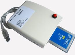 Wholesale Pcmcia Cardbus Usb - Wholesale ATA PCMCIA Memory Card Reader Card 68PIN CardBus To USB 2.0 Adapter Converter Free Shipping