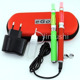 Wholesale Ego U Starter - electronic cigarettes melo atomizers eGo-T Dual-Vaporizer Atomizer ego-u hookah pen Vape Pen Double ego-U Starter Kit Case