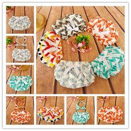 Wholesale Pp Skirt Headband - Wholesale-Newborn Baby cotton Bowknot Ruffle Bloomers PP Shorts Pants Skirt Striped baby headband headwrape Dress Freeshipping