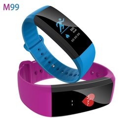 Wholesale Brand Ratings - M99 Color Smart Bracelet With Heart Rate Sleep Monitor Blood Pressure Anti Loss Bluetooth Smart Brand for Android IOS