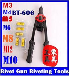 Wholesale Riveter Tool - Hand Riveter Rivet Gun Riveting Tools With Nut Setting System M3 M4 M5 M6 M8 M10 M12 BT-606 original free shipping