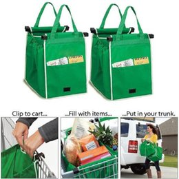 Wholesale large organizer tote - Eco-friendly Grocery Grab Shopping Foldable Tote Reusable Storage Organizer Trolley Supermarket Large Capacity Bag