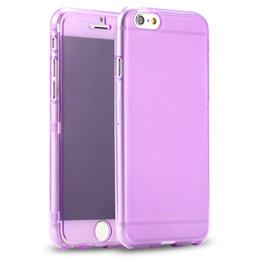 Wholesale Transparent Gel Flip Casing - High Quality Transparent Clear Full Body Protective Soft Gel TPU Flip Case Cover for iphone 6 6Plus 6s 6s plus 10pcs lot