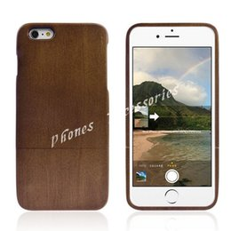 Wholesale Hard Wood Back Cover Case - Wood Case for iPhone 6 Natural Wood Hard Back Case For Apple iPhone 6 4.7inch Cover