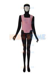Wholesale Halloween Costume Women Lycra - X-men costume Black & Pink lycra spandex X-men Gambit Custom Vest Superhero Costume free shipping