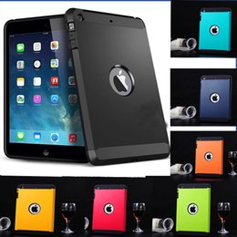 Wholesale Cool Cases For Ipad Mini - Protective Tough Shell Armor Case for iPad 5 Air With Logo Luxury Cool Dual Layer Slim Hard Hybrid Back Cover for iPad Air