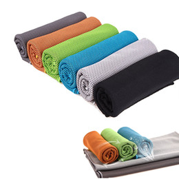 Wholesale Wholesale Hair Snaps - Sports Gym Climbing Riding 2 Layer Cool Towel Cold Towel Cooling Towel Breathable PVA Hypothermia Enduracool Snap Towel 35x90cm
