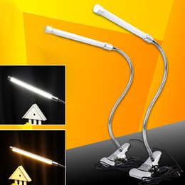 Wholesale Desk Lamp Flexible - Super Bright 6W LED Flexible Desk Table Lamp with Clip LED Bedside Reading Lamp Light Clamp Table or Headborad with USB Plug order<$18no tra